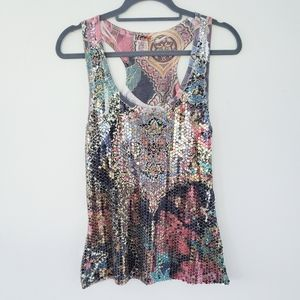 Body Central Sequined Tank sz.L
